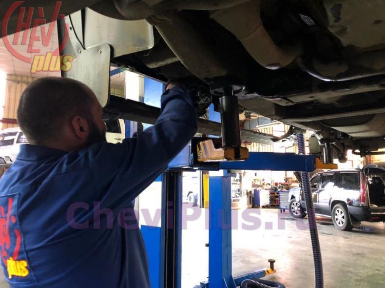 Обслуживание выдвижных порогов на Chevrolet Tahoe (2).jpg