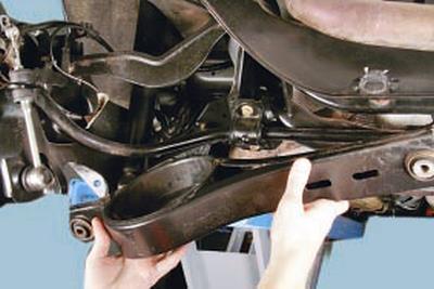 Замена заднего нижнего рычага задней подвески Форд мондео 4 (2007-2014)