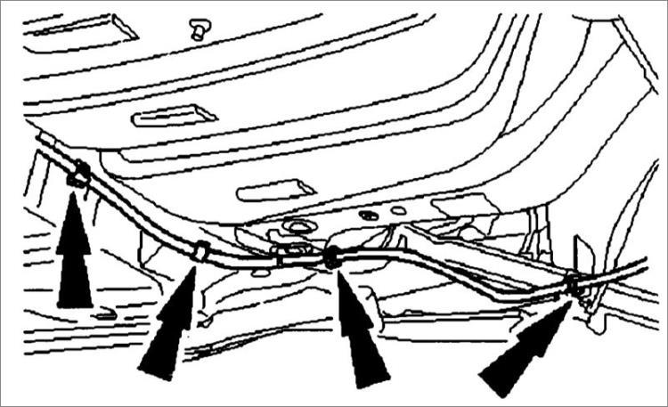 Замена троса стояночного тормоза Ford Mondeo